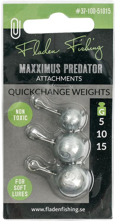 Quickchange weights for soft lures 5-10-15gr