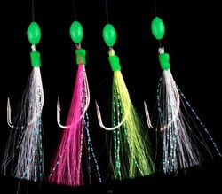 Ron Thompson Rig 7 Rainbow Flasher Pearl White and Silver 4 #2 Silver
