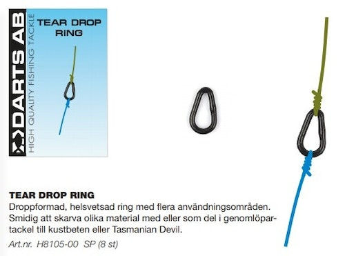 Darts Tear Drop Ring