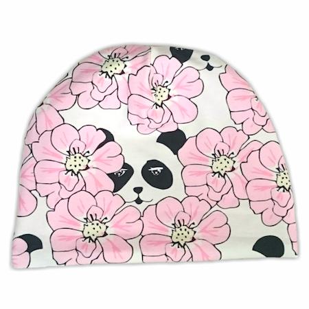 Mössa Panda Och Blommor