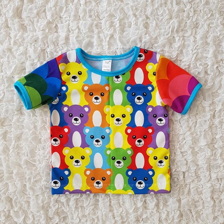 Tshirt regnbågsnallar (80)