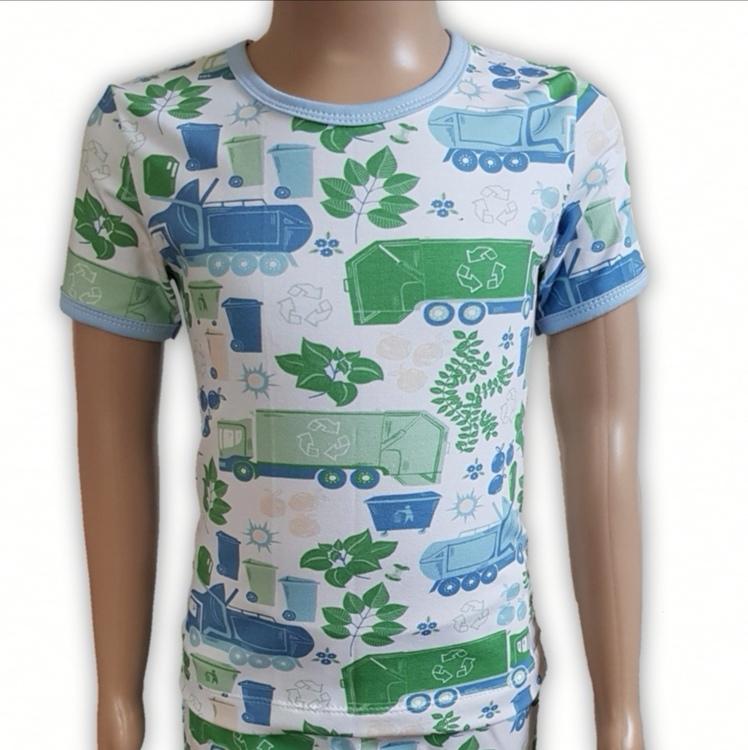 T-shirt blå återvinning (98/104)