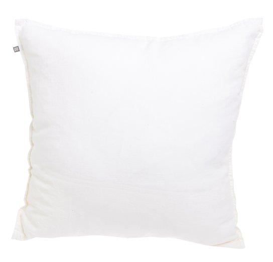 Linnekudde - 50x50cm - Vit