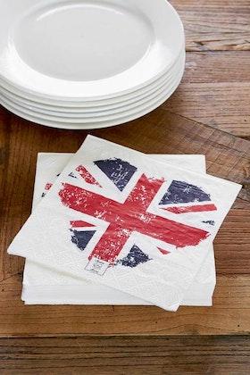 Union Jack Heart Paper Napkin
