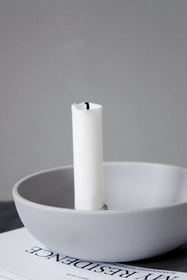 Ljusstake - Ljusgrå - Liten
