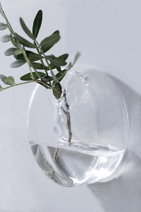 Väggvas - Glas - Rund