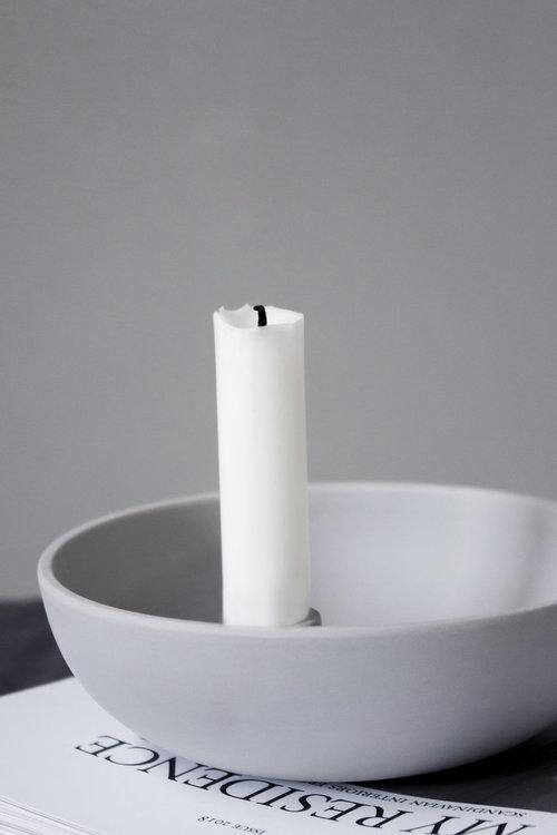 Ljusstake Lidatorp - Stor - Ljusgrå