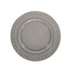 Desserttallrik - 22 cm - Soft grey