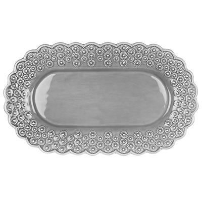 Serveringsfat - Soft grey - Ditsy