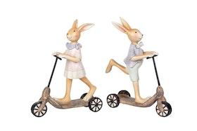 Kaninflicka på cykel -12 cm