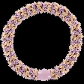 Hårsnodd - Peach Pink Glitter Stripe
