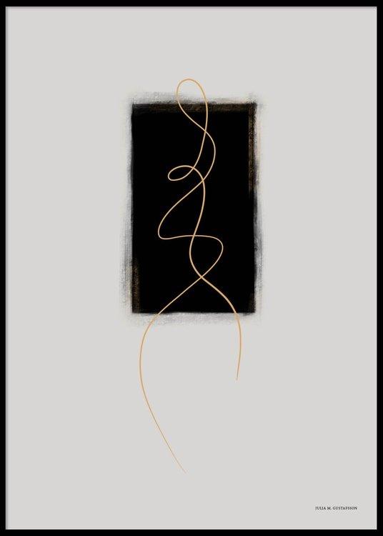 Golden Lines Poster