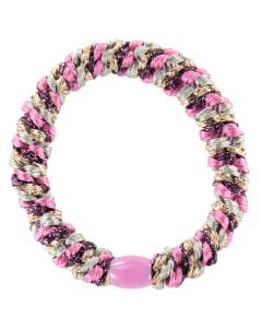 Hårsnodd Mix Pink Glitter
