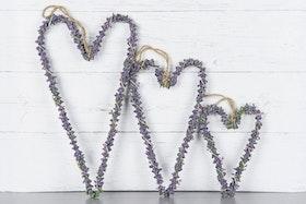 Lavendelhjärta - 30 cm