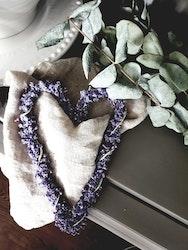 Lavendelhjärta - 20 cm