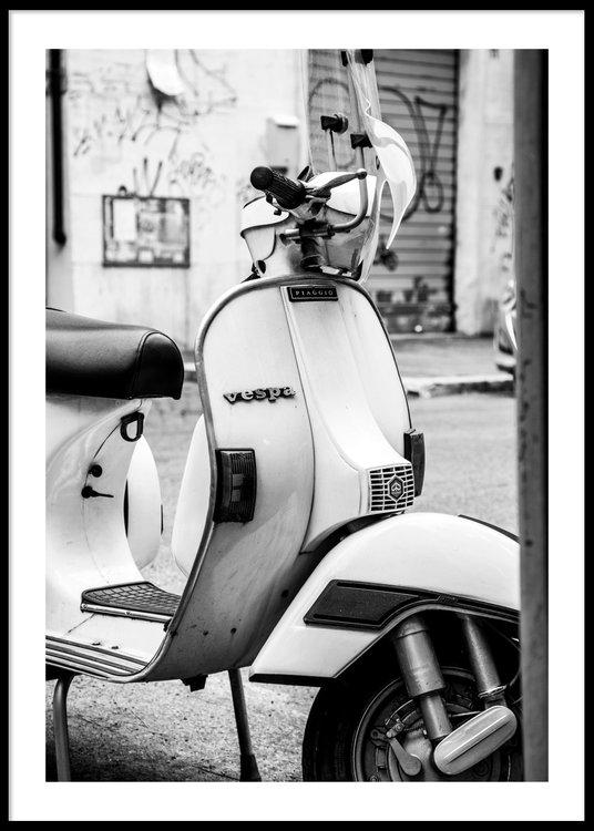 White Vespa - Poster