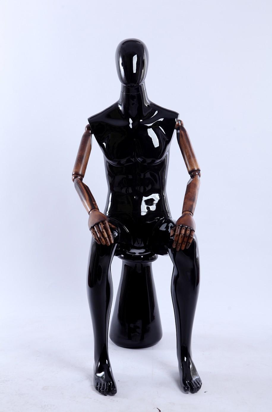 Mallinukke Miehet Glossy Musta