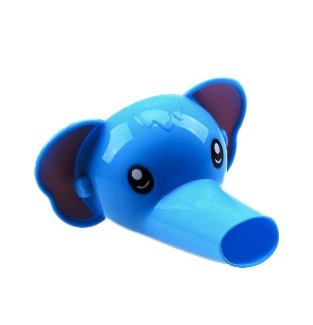 Kranförlängare i form av en blå elefant