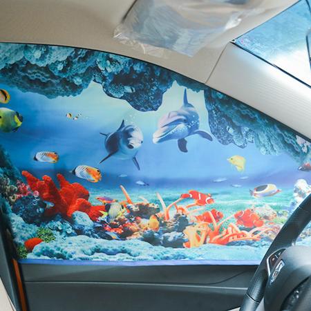 Solskydd med Magneter till Bilfönster