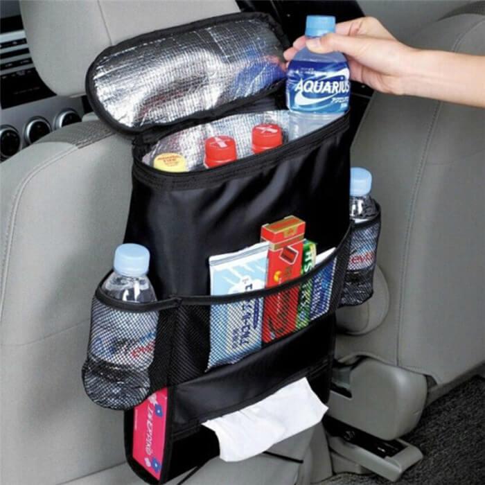 Förvaring med kylfack till bil