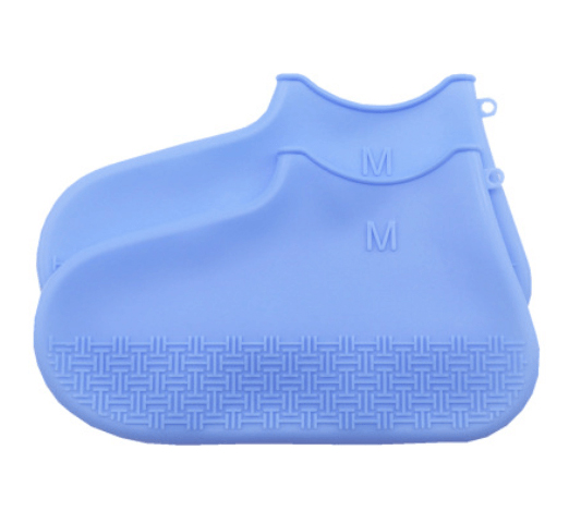 Skoskydd i silikon i blå färg