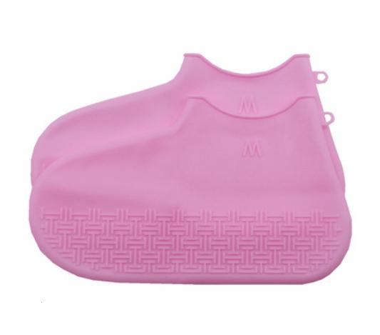 Skoskydd i silikon i rosa färg