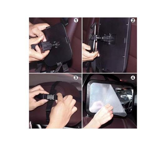 Monteringsanvisningar för bilspegel till barn