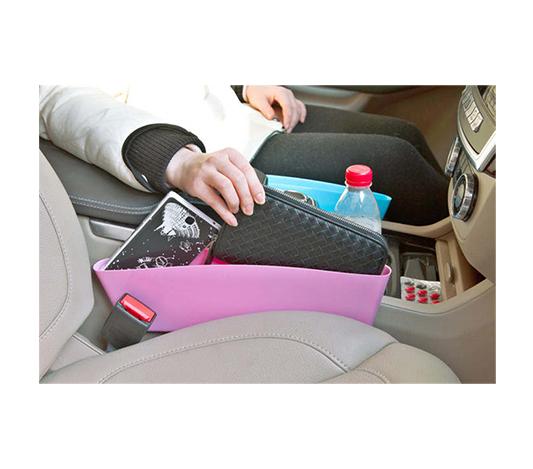 Smart förvaring för mobil mellan bilsäten
