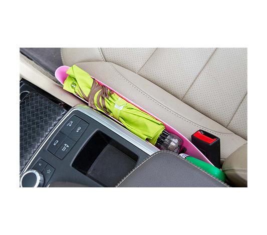 Smart förvaring för mobil mellan bilsäten för paraply