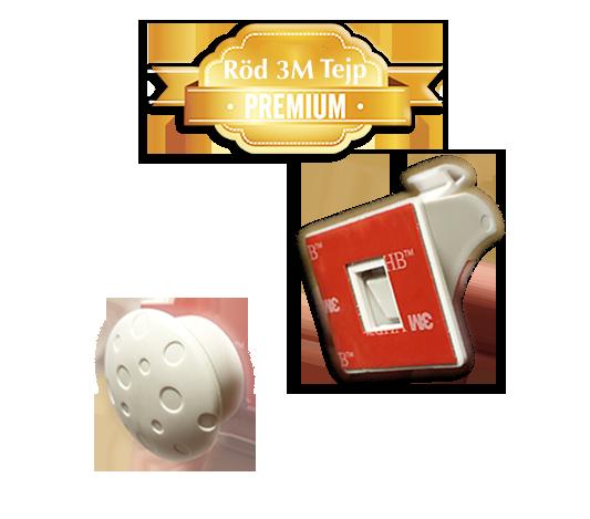 Osynliga magnetlås med extra stark röd 3M tejp till skåp och lådor