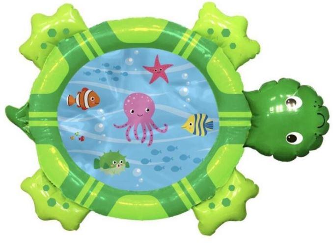 Lekmatta med vatten i forma av en sköldpadda