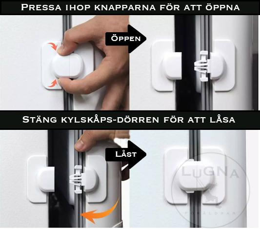 Barnlås till Kylskåp | 2-pack