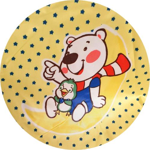 Frisörkappa till barn med björnmotiv