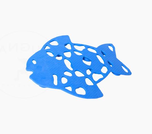 Halkskydd till badkar i form av en blå fisk