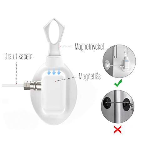 Magnetnyckel till kylskåpslås