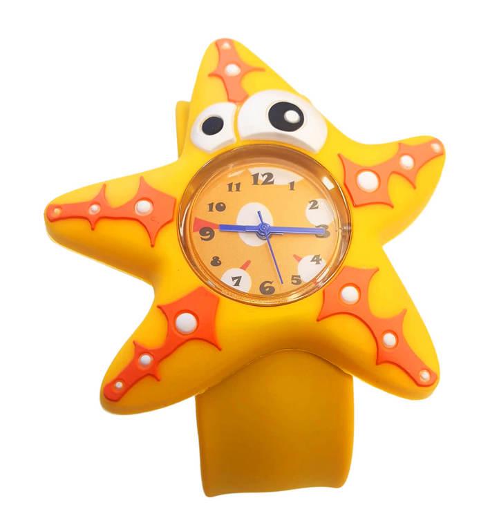 Armbandsur till barn med motiv av en gul sjöstjärna
