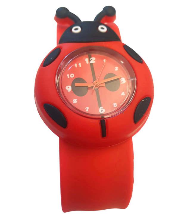 Armbandsur till barn med motiv av en röd nyckelpiga