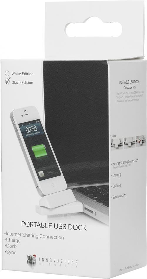 USB-dockning för iPhone/iPod, dockkontakt, vridbar 180 grader