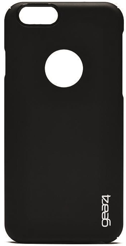 Hårdplastskal med gummerad yta för iPhone 6 Plus, svart