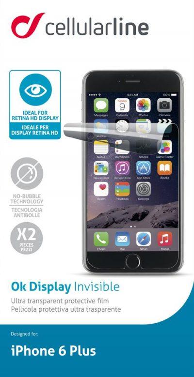 Display Invisible, transprant skärmskydd för iPhone 6 Plus 2pack