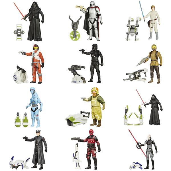 "Hasbro Star Wars E7 3.75"" Single Jungle/Space, Figur med vapen"