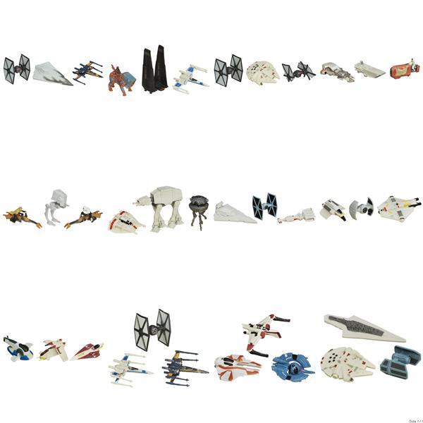 Star Wars E7 Micro Machines Vehicles 3st fräcka fordon/skepp