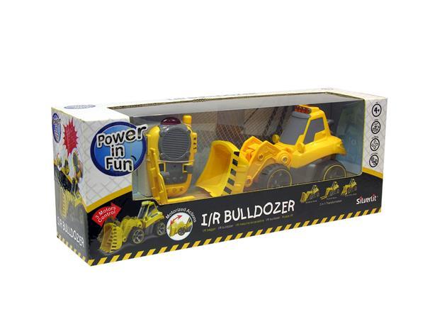 Bulldozer med flera tillbehör (Skopa, gaffel & plog)