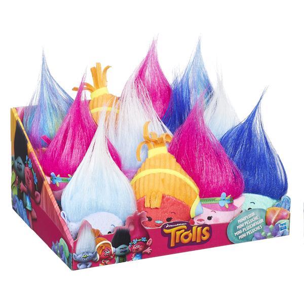 Hasbro Populära Trolls figurer i mjukt miniformat från filmen