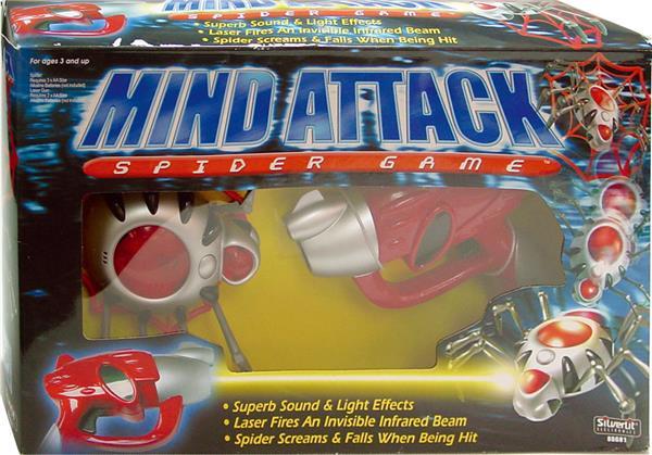 Mind Attack - Spider Game, klassiskt skjutspel med rörligt mål