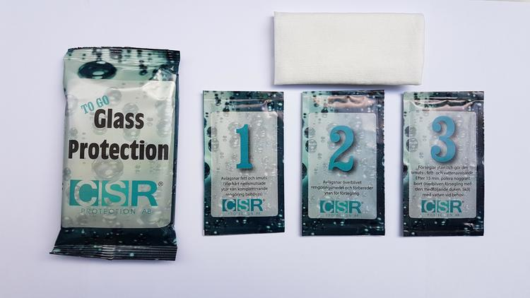 Skydda Vindruta & andra glasytor mot föroreningar, vatten, fett
