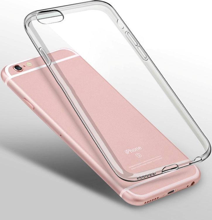 Transparent cover till Apple iPhone 6s 7 & 8 mot stöt repa smuts