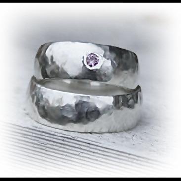 IVALDE rundad silverring