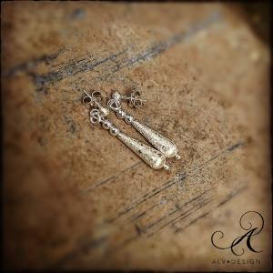 MARMORERADE örhängen i silver