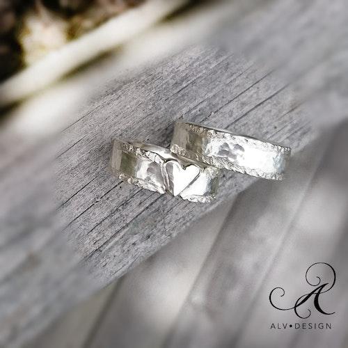 NJORD hjärta silverring